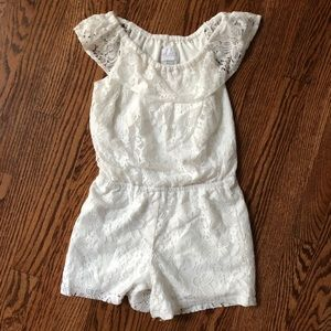 Children's Place White Lace Romper